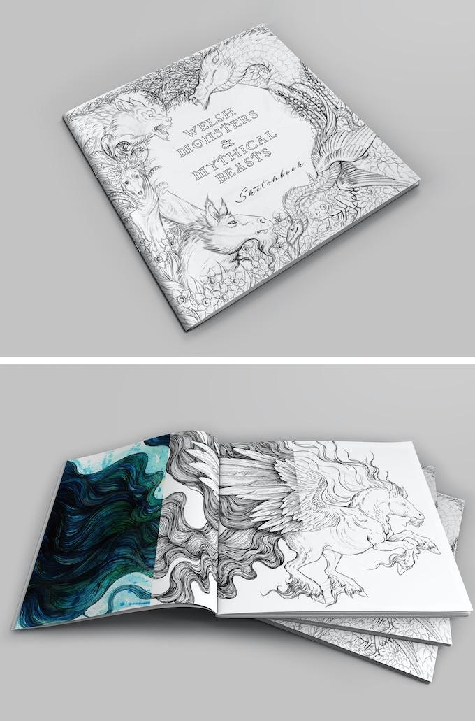 Sketchbook digital mockup