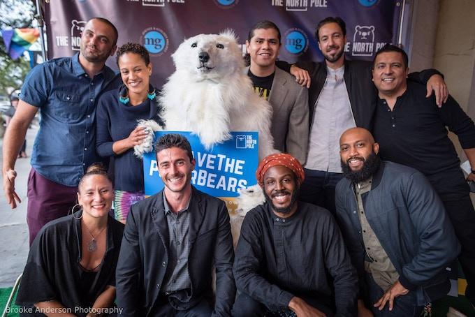The cast, crew, and polar bear(s) at last year's Season 1 premiere.