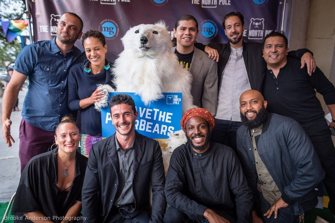 The cast, crew, and polar bear(s) at last year's Season 1 premiere.