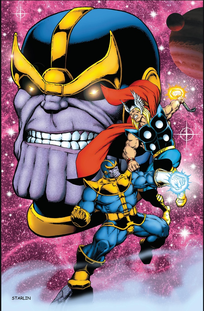 Thor & Thanos Print by Jim Starlin (4th of 5 prints)