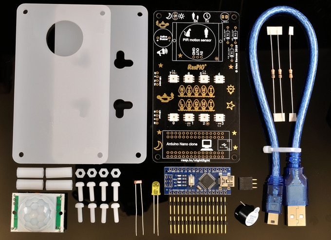 RasPiO Night Light kit contents