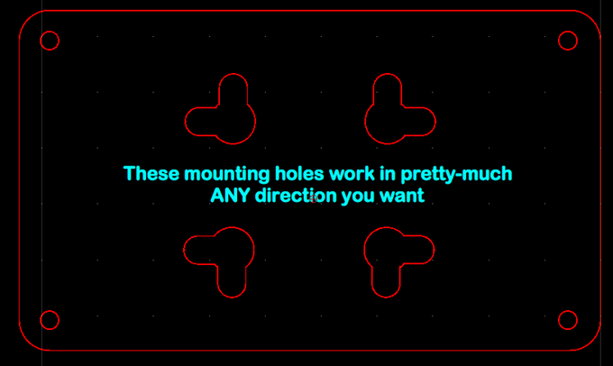 Multi-directional mounting hole design