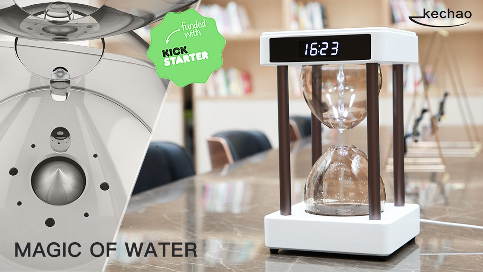 Magic of Water: World's First Anti-Gravity Air Purifier by Kechao