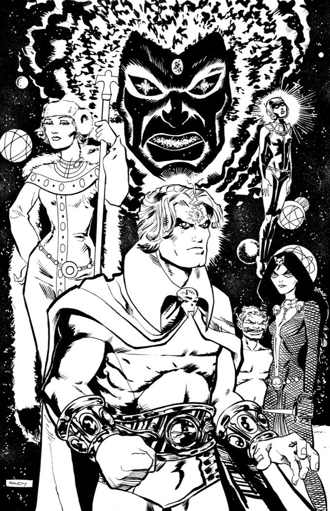 Sandy Jarrell Original Warlock Art - Part 8 of the Jim Starlin Legacy Project