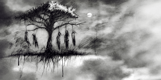 """The Tulpa Tree"" (art by David Romero) (representative of our book's style)"