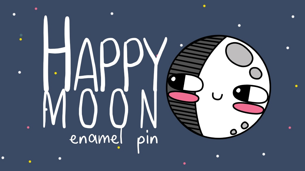 Happy Moon: moon enamel pin