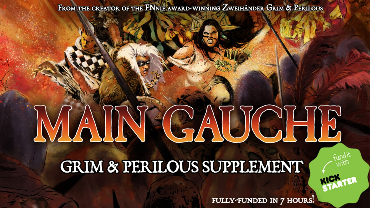 MAIN GAUCHE is a chaos expansion for the ENnie award-winning Best Game & Product of the Year ZWEIHÄNDER Grim & Perilous RPG