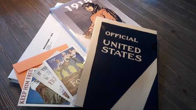 The complete Package: Book, Folded Poster, Postcards / Ready to ship...