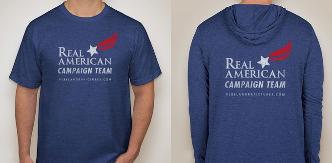 Campaign Apparel - Real American t-shirts and hoodies/Ropa de campaña