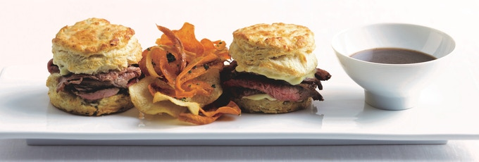 Lamb Dip and Rosemary Biscuits