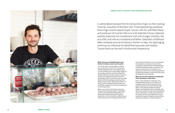 Sample Cookbook Page: Chef interview with Gabriele Corcos