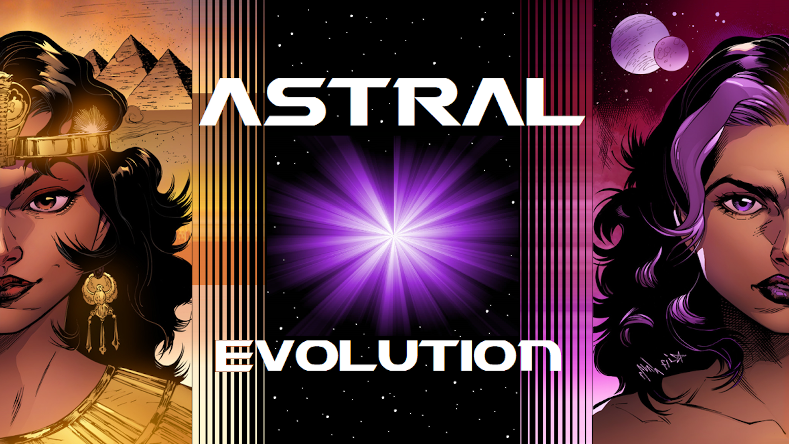 """Complete graphic novel featuring 100 gorgeous full-color pages of thrilling sci-fi action & adventure! """"ASTRAL GENESIS"""" available, too!"""