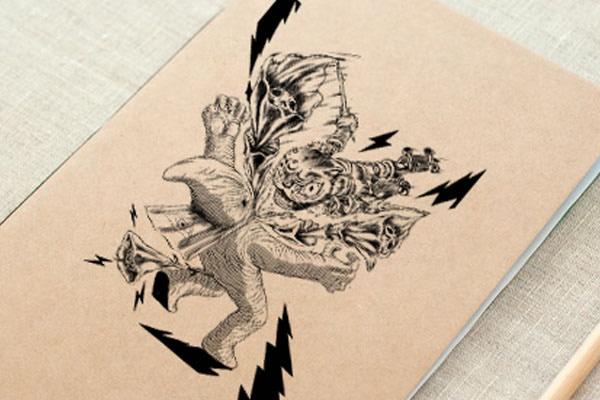 $500 MXN - 1 libreta diseñada con obra de diversos artistas Tijuanenses