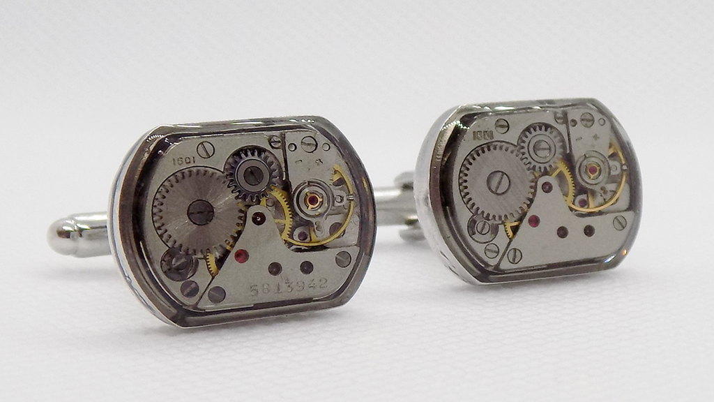Watch Movement Cufflinks with a protective epoxy resin layer project video thumbnail