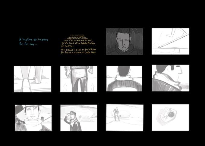 Storyboard shot by Production Designer Heathor Meister