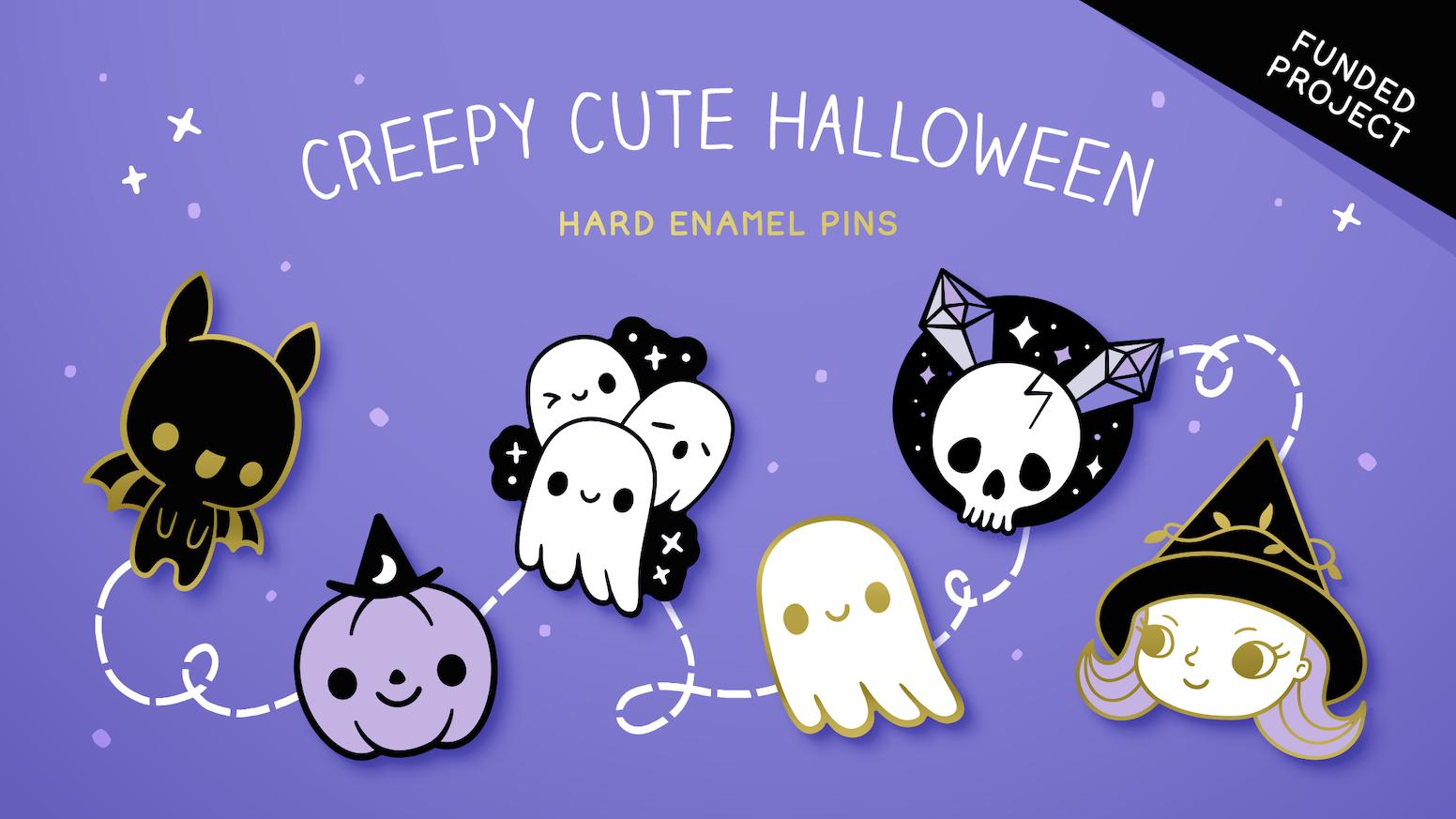 Halloween Stickers Aesthetic.Creepy Cute Halloween Enamel Pins By Xintu By Kate Cooper