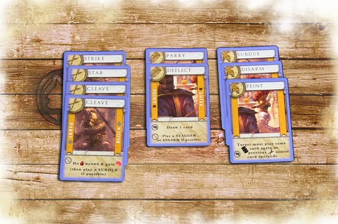 Secutor specific combat cards