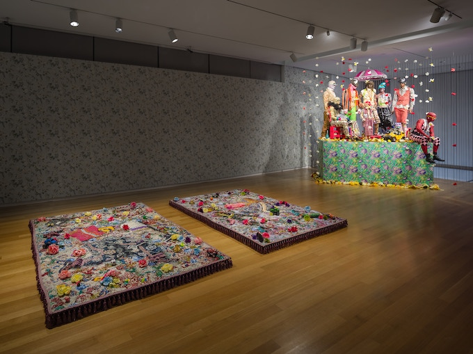 Installation View, Ebony G. Patterson: Dead Treez, 2015-16, Museum of Arts and Design, New York