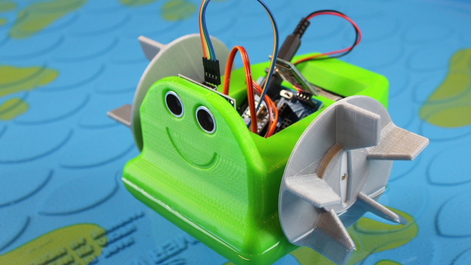 An Arduino robotics kit for your pool, pond, or tub. Build it, control it, reprogram it.
