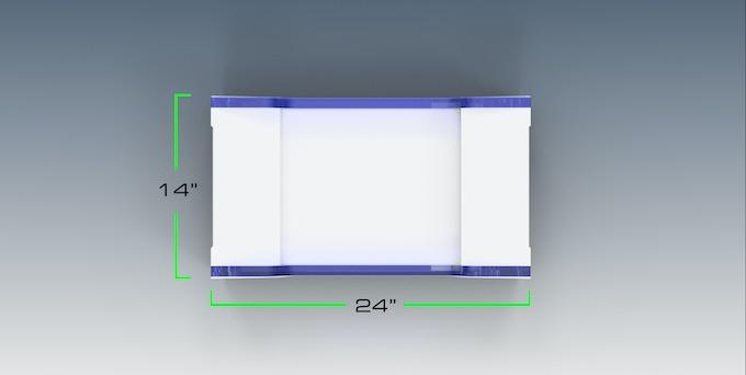 35.5 cm  x  60.9 cm