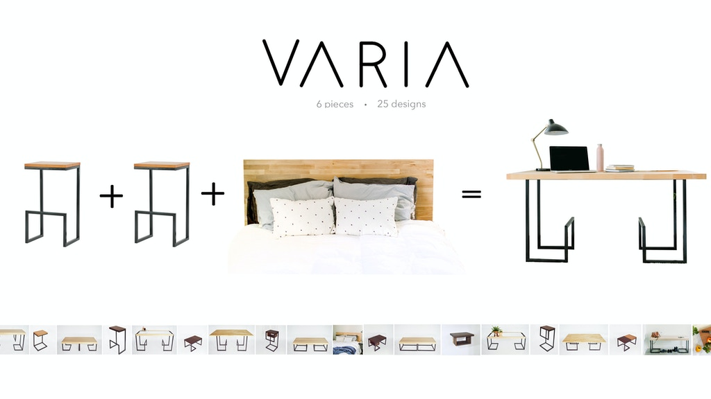 VARIA: 6-piece furniture collection creates 25+ uses project video thumbnail