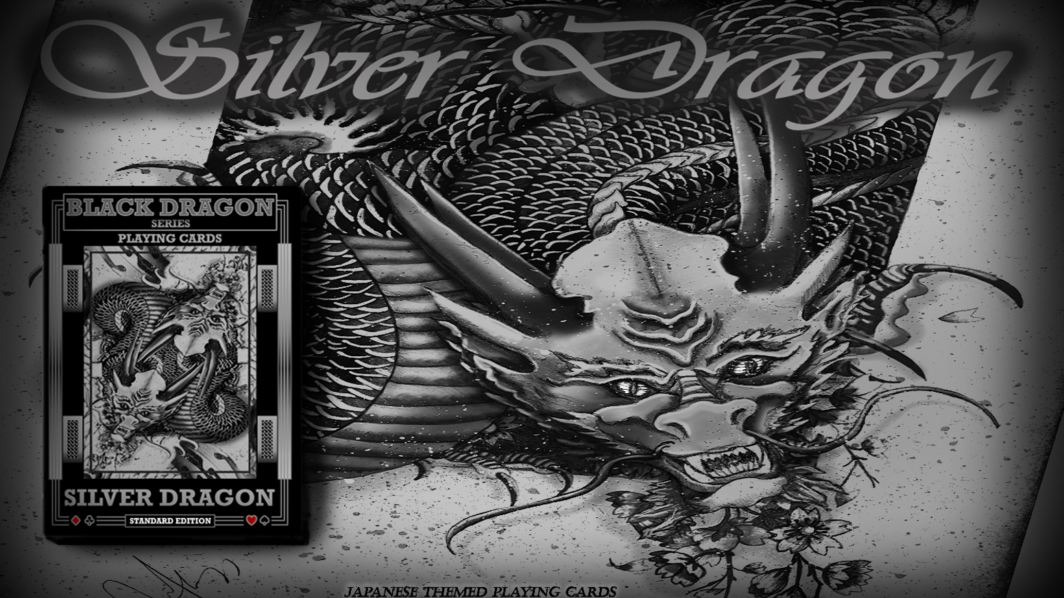 Silver Dragon Playing Cards (Standard Edition).  Specially Marked and Stacked Deck. Includes Gaff card plus hidden reveals inside deck!