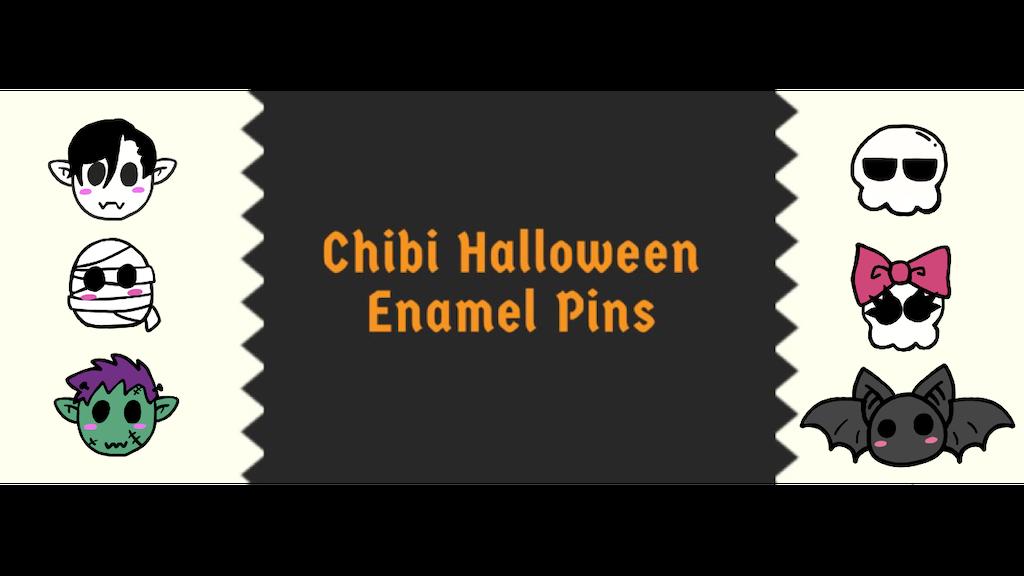 Chibi Halloween Enamel Pins