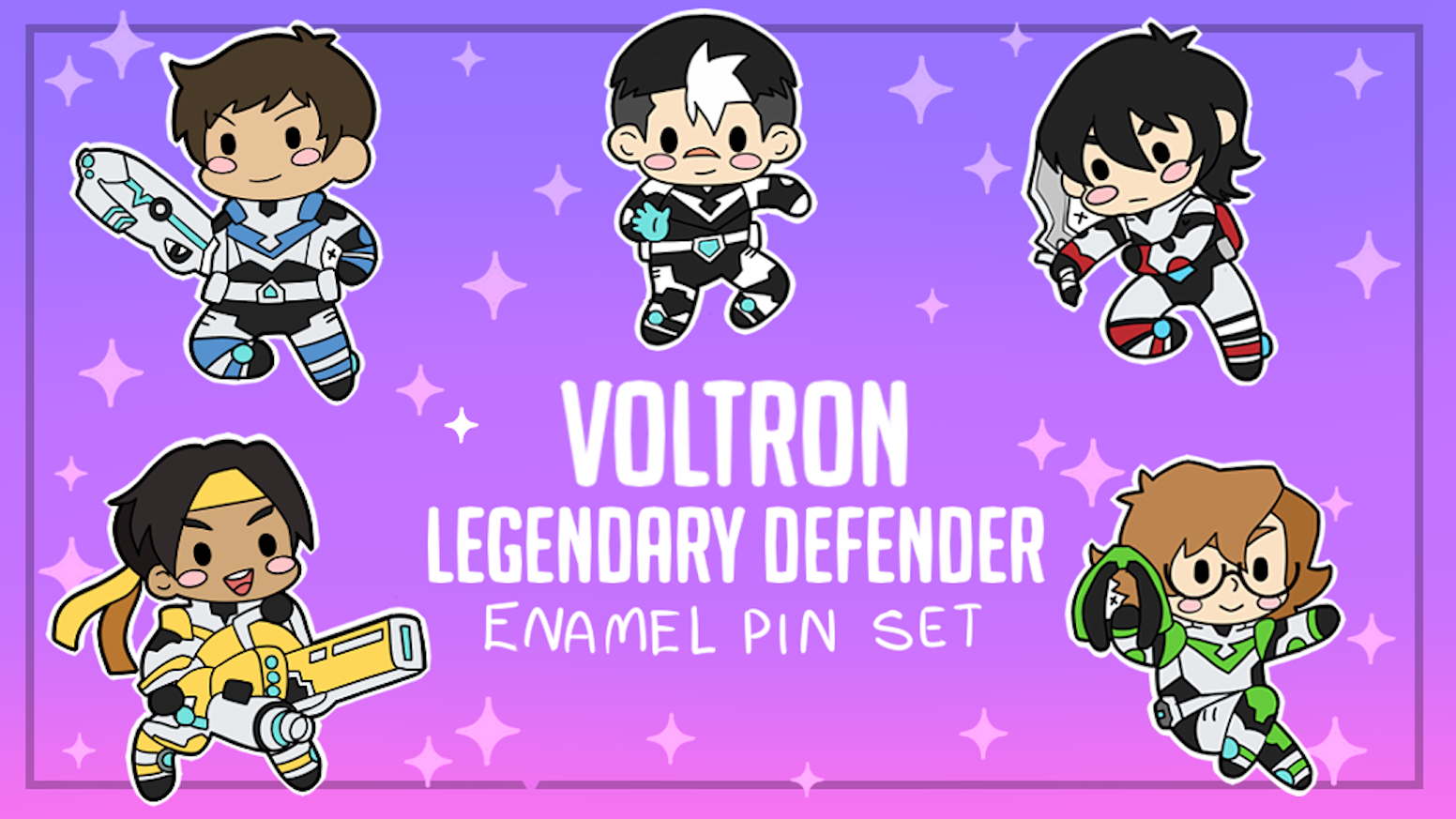 Chibi Voltron An Enamel Pin Set By Bee Kickstarter