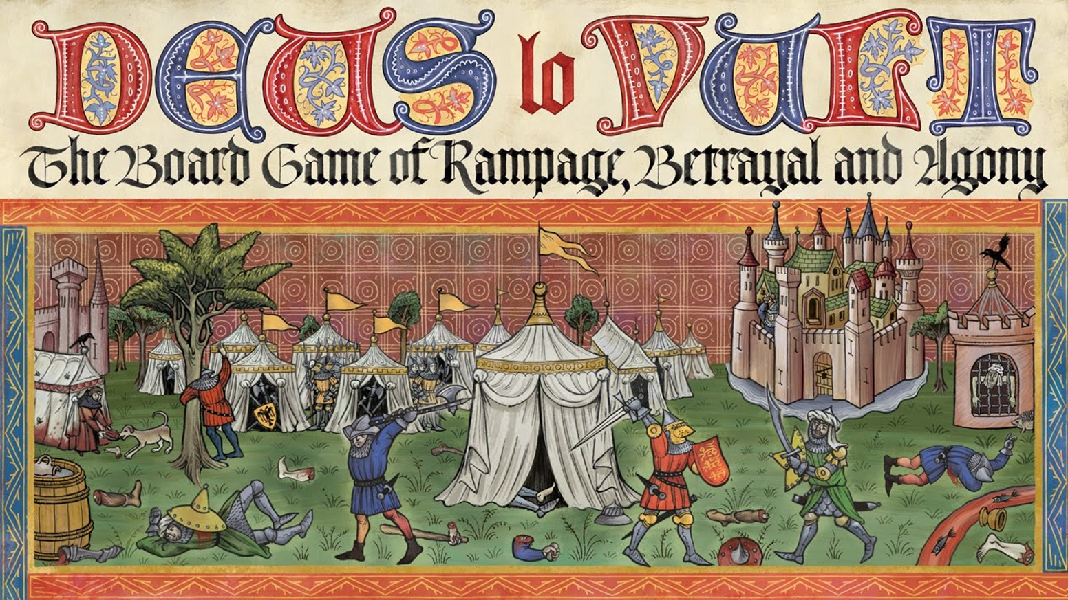 Competitive board game based on medieval miniature and the strategic games played by the military aristocracy all over the world.
