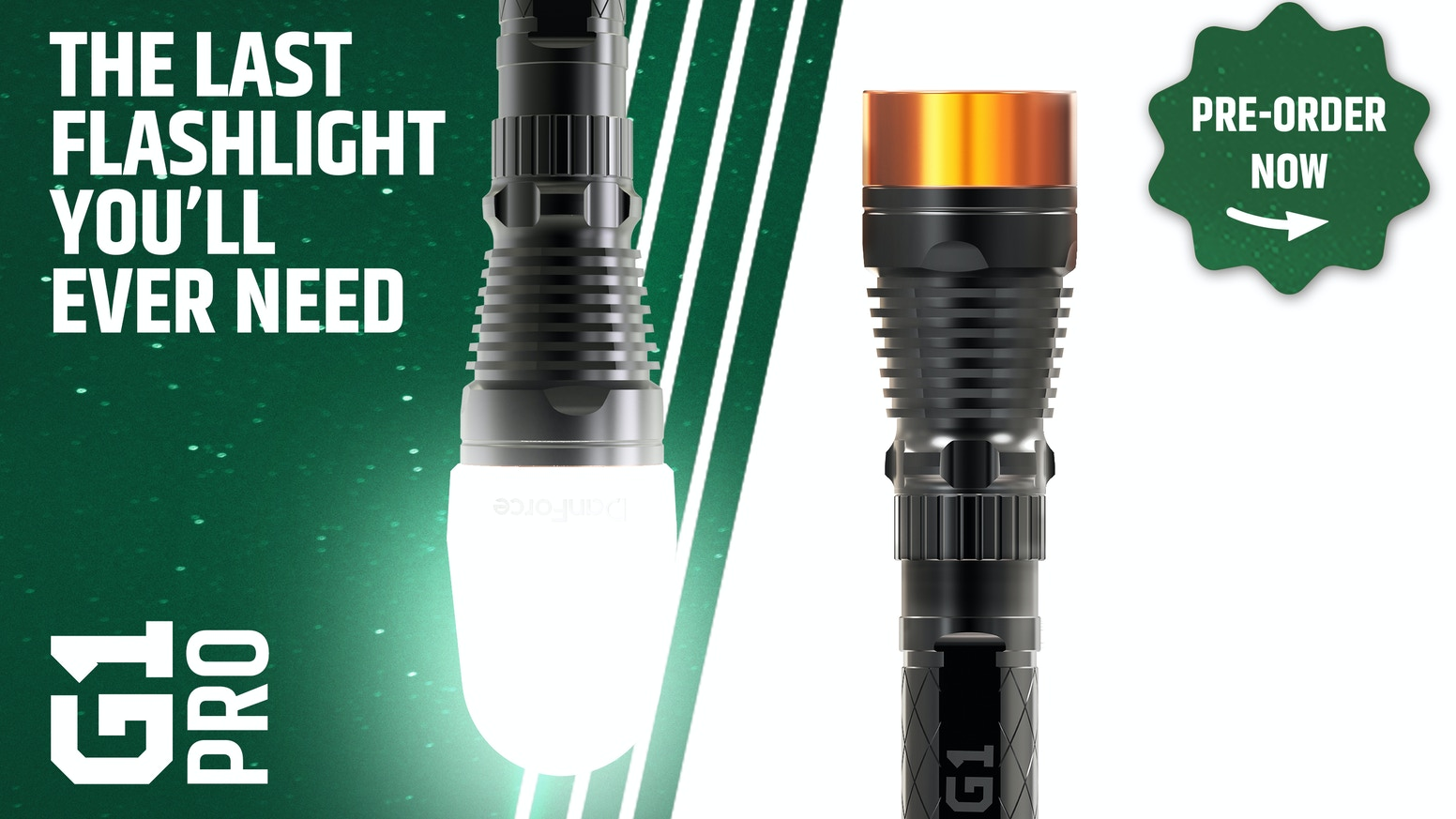 The world's first modular flashlight that adapts to any lighting situation.