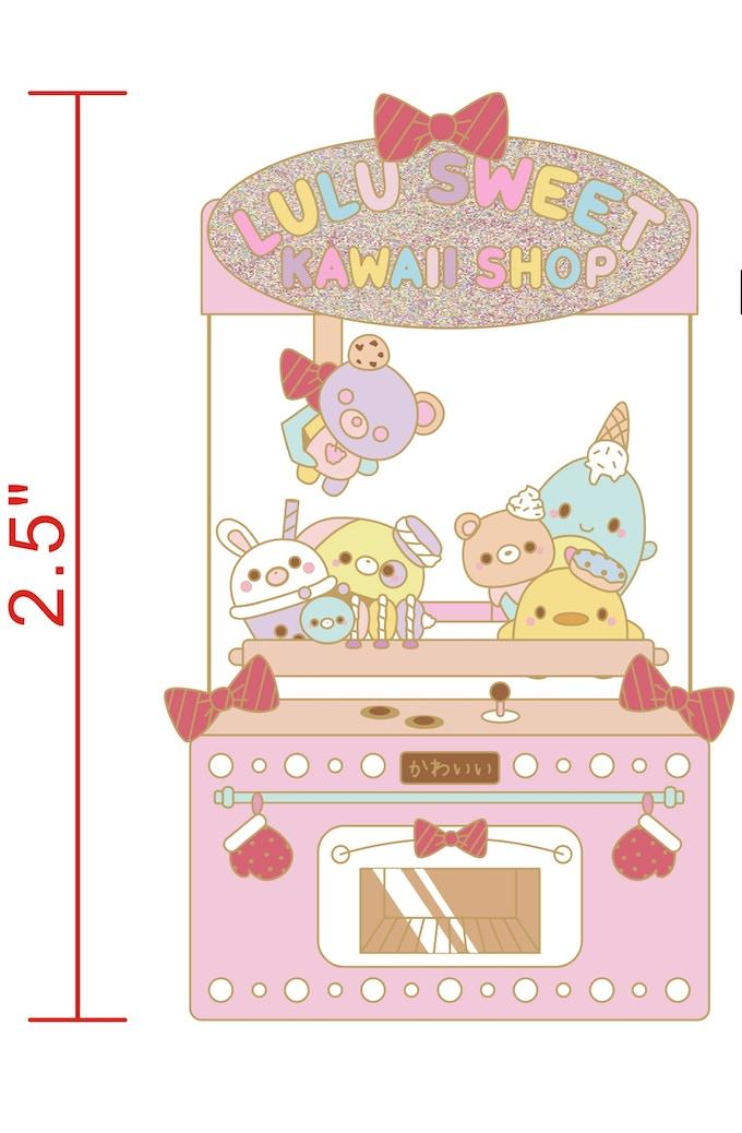 Lulu Sweet Kawaii Shop Toy Claw Machine Enamel Pin by Lulu Sweet