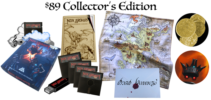 $89 Collector's Edition, full boxed set plus cloth map, game artifacts, writ from the Queen