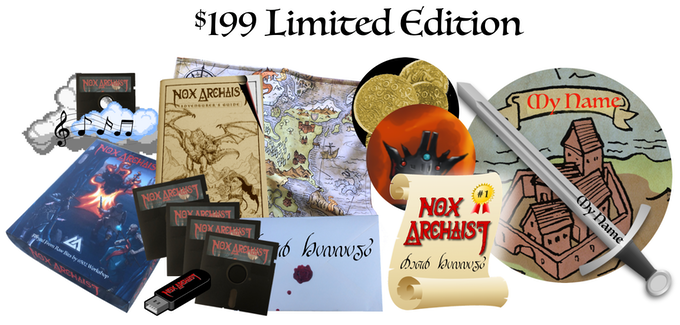 $199 Limited Edition, includes Collector's Edition, name your own item, Baron of the Realm, numbered certificate, optional autographed map
