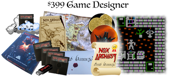 $399 Game Designer, Collector's Edition, design your own location, Count of the Realm, certificate, letter from the Queen, optional autographed map