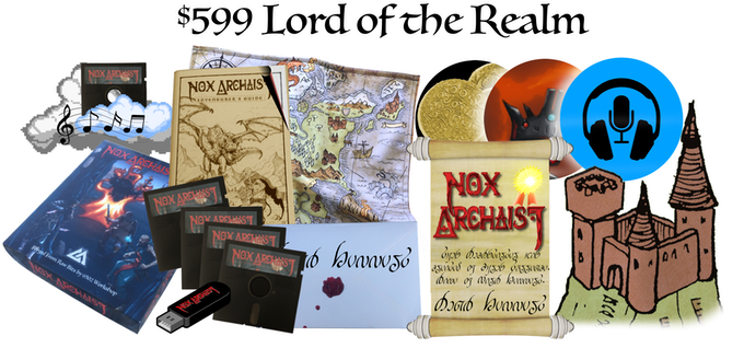$599 Lord of the Realm, Collector's Edition, own your own tavern, role play a Lord of the Realm, unique certificate, letter from the Queen, optional autographed map, interview with creators