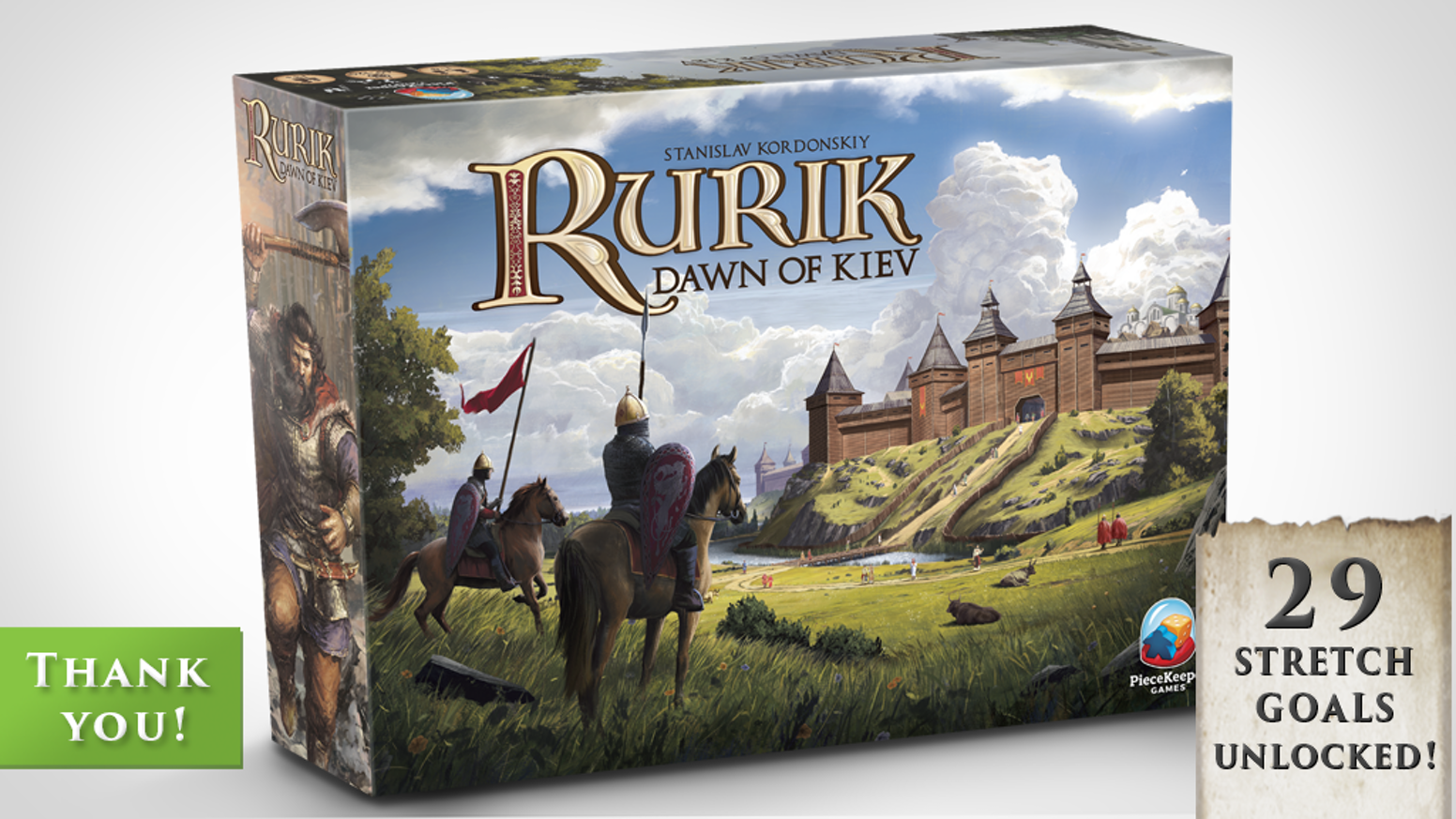 Build, tax, and attack to become the next ruler of 11th century Kievan Rus. Rurik is a euro-style realm building game for 1-4 players.