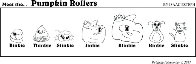 The Pumpkin Rollers from one of their comic strips