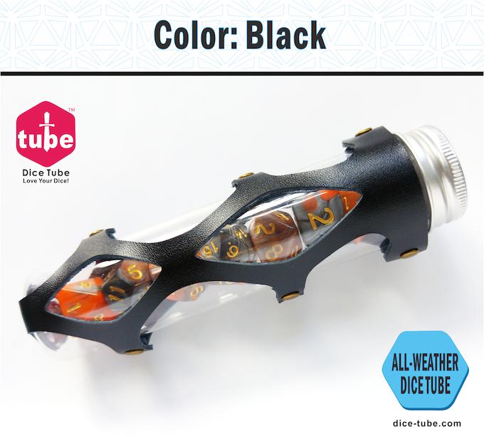 dice tube color black