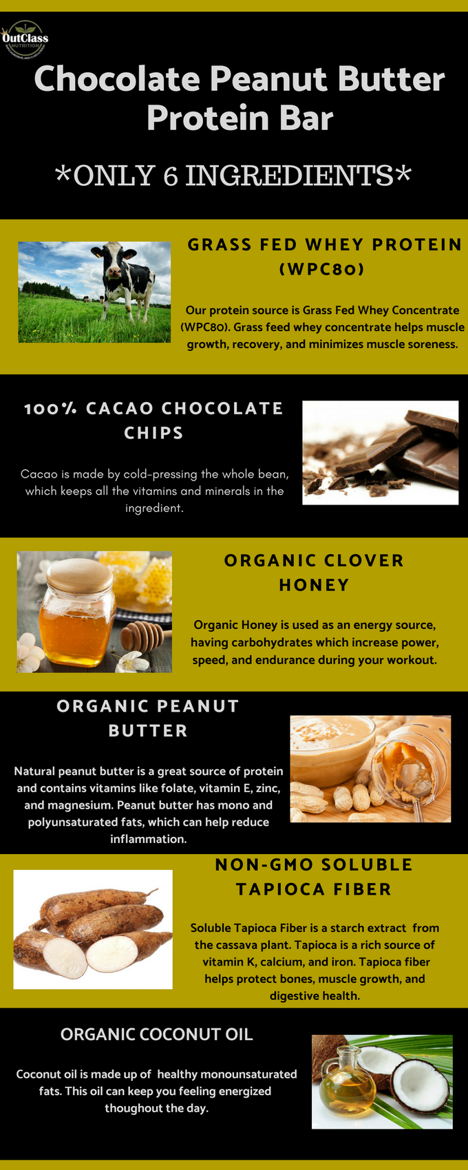 Chocolate Peanut Butter Bar Ingredients