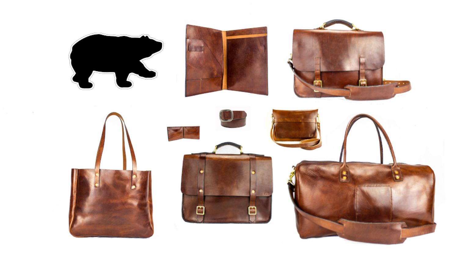 5a6fa9ca53f8 Hand Stitched Artisan Leather Bags Made in USA by Black Bear by Black Bear  Leather — Kickstarter