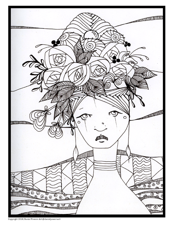Sample Headdress Coloring Page