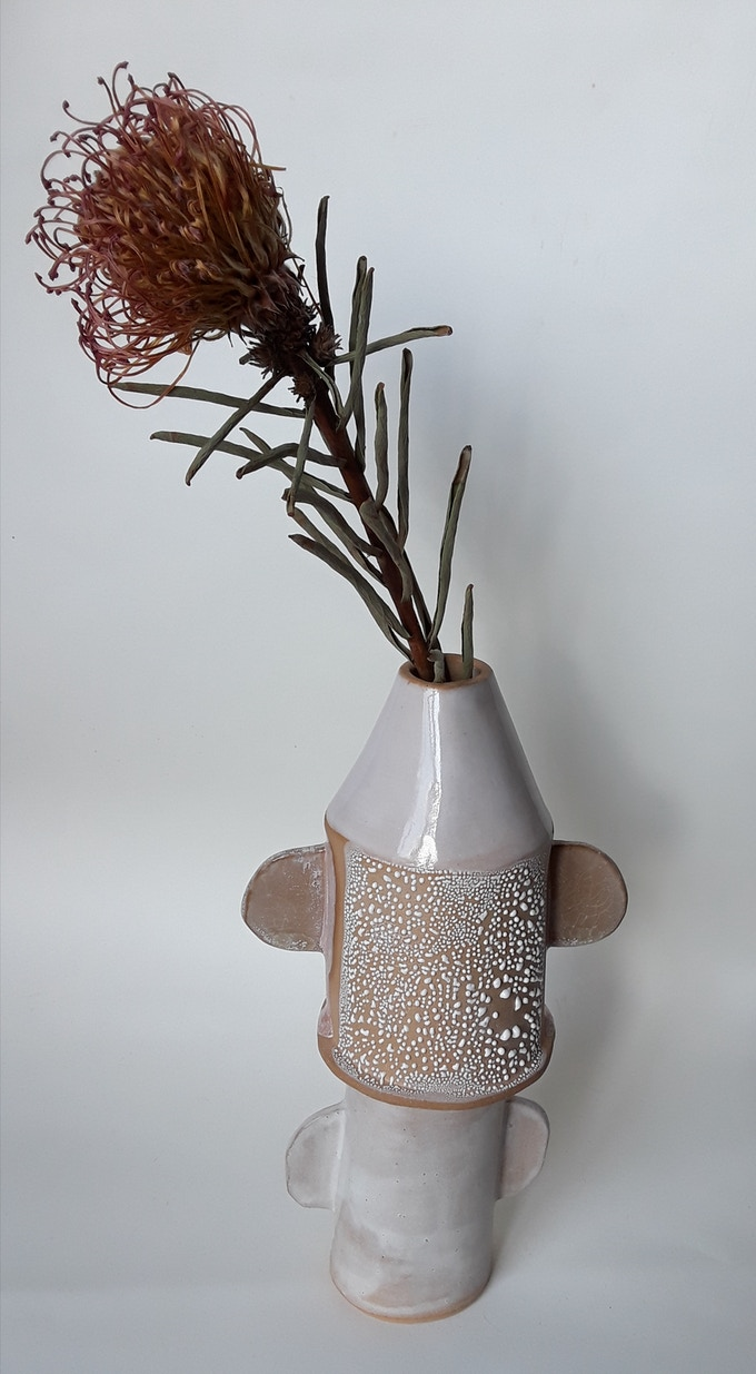 slab-built vase with multi-handles - $95 reward