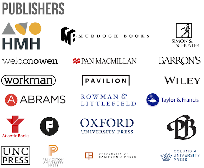 Just a few of ckbk's 100+ licensing partners