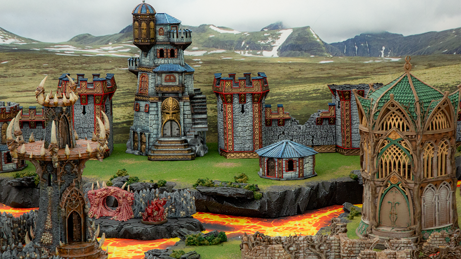 Dwarves, Elves & Demons: 3D printable Fantasy Terrain for RPG and Wargames