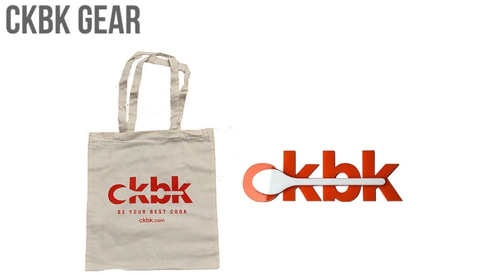 ckbk totebag and fridge magnet