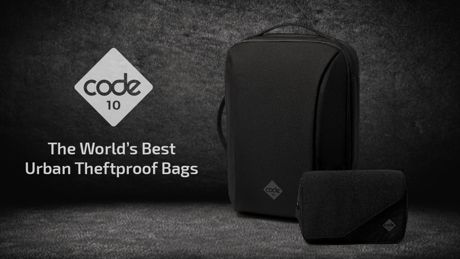 Code10's Urban Theftproof Bags are designed to be the perfect every day carry - keeping your essentials perfectly organised and secure.