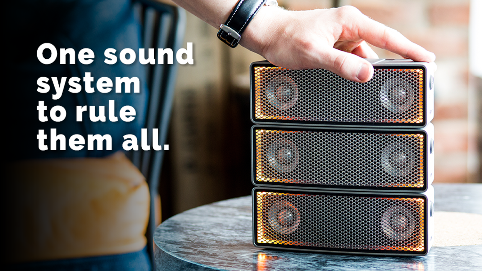 The intelligent speakers that instantly combines into any sound system you need.