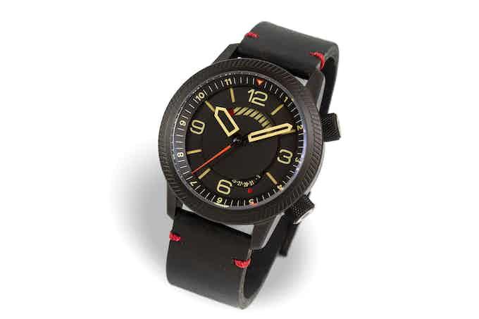 DLC case, black dial, black strap