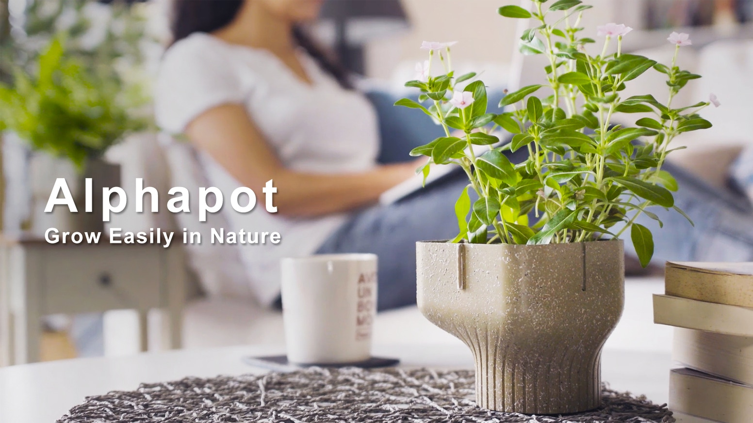 Bringing green into your home more easily! Alphapot, the 100% biodegradable plant pot, reducing and repurposing food waste.