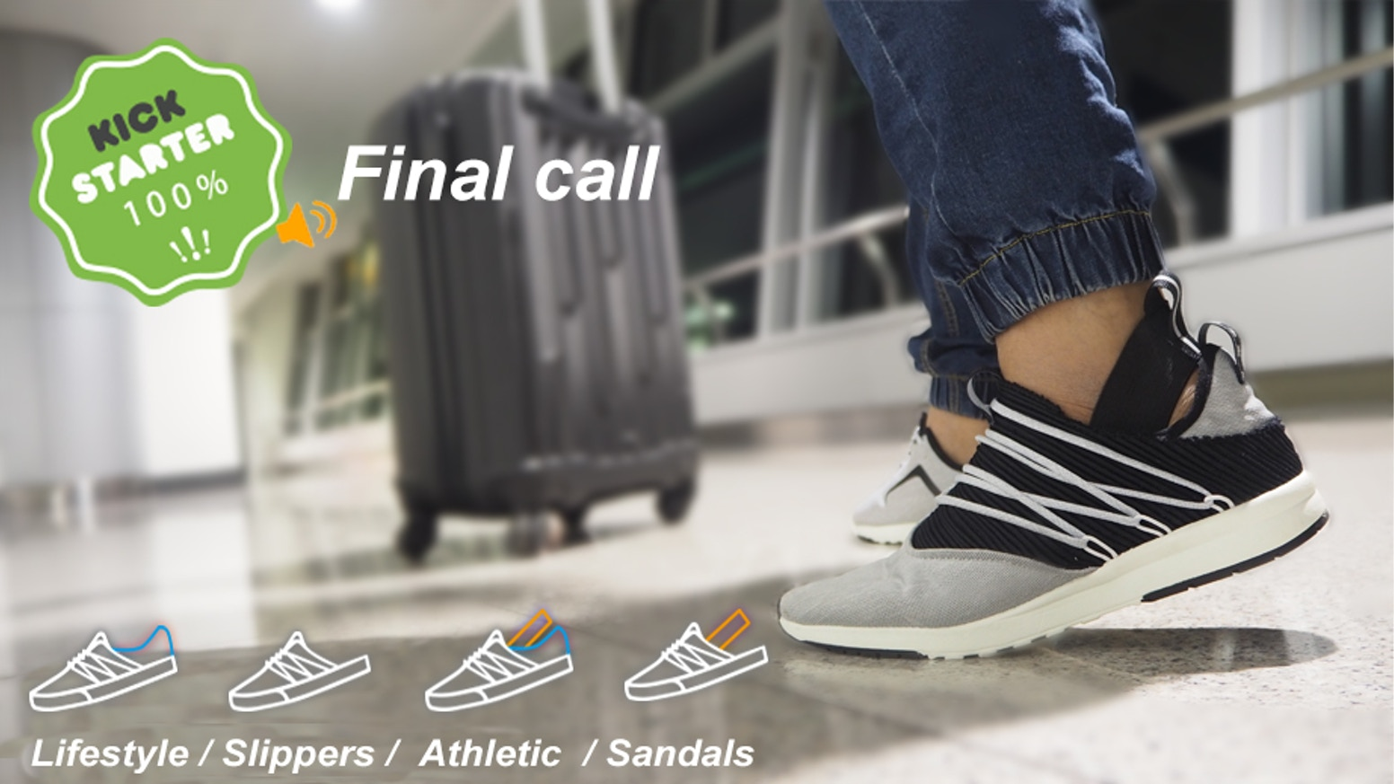 Footwear revolution, can be slippers, sandals, athletic shoes or lifestyle shoes! in anytime, anywhere!